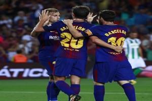 Tanpa Neymar yang hengkang dan Suarez cidera, Barca masih perkasa