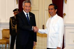 Jokowi-Lee awali pertemuan di Singapura Botanical Garden