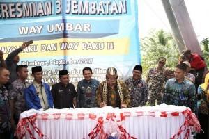 Gubernur Lampung Resmikan Jembatan Di Tanggamus