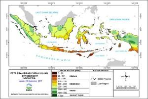 BMKG Prakiraan Lampung Berawan-Hujan Ringan