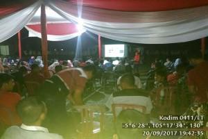"""Kodim 0411/Lampung Tengah Gelar """"Nobar"""" Film G30S/PKI"""