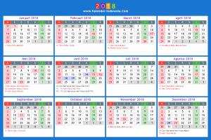 Hari libur dan cuti 2018