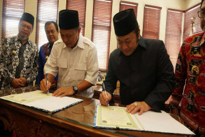 Lampung Selatan-Lampung Tengah Kerja Sama Pembangunan