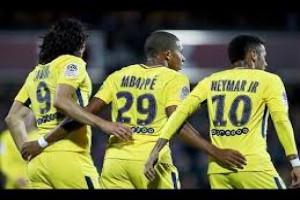 Trio penyerang PSG cetak gol ke gawang Anderlecht