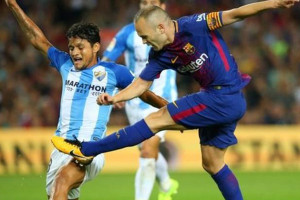 Kalahkan Malaga 2-0, Barca Masih Pimpin Liga Spanyol