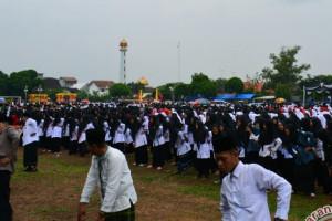 Ribuan Santri Ikuti Senam Islam Nusantara