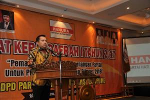 Gubernur Ajak Partai Hanura Tingkatkan Keunggulan Lampung