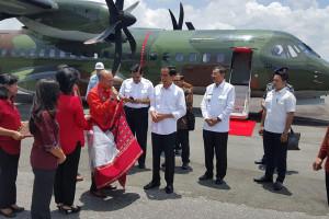 Presiden Gunakan Bahasa Batak saat Peresmian Bandara Silangit