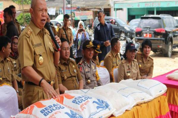Wagub Lampung turun langsung melayani op beras