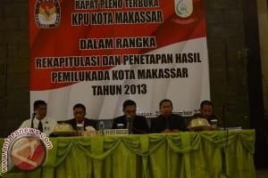 KPU Tetapkan Pasangan DIA Pemenang Pilwali Makassar