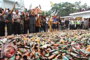 Kepolisian Gorontalo Sita Beragam Minuman Keras