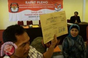 Pilpres - KPU Makassar Rampungkan Rekapitulasi Suara