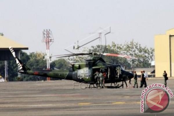 Helikopter Kodam Wirabuana ditarik untuk HUT TNI