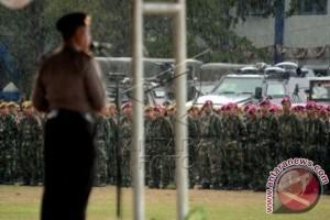 TNI-Polri apel gabungan sebelum pelantikan bupati