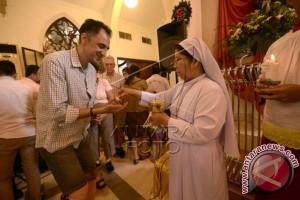Perayaan Natal di Makassar berlangsung khidmat