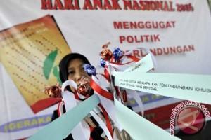 Beragam aksi warnai Hari Anak di Makassar