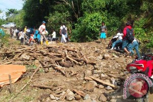 Jalan Trans Sulawesi Di Sulbar Tertutup Longsor