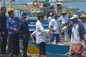 Presiden Jokowi resmikan Pelabuhan Perikanan Untia Makassar