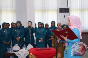 Istri Bupati Gowa Lantik Ketua PKK Kecamatan