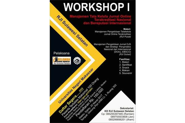 RJI Sulsel-UNM Gelar Workshop Jurnal Online