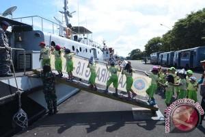 Kapal Perang Lantamal-VI Jadi Wisata Edukasi Sekolah