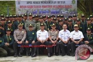 315 Rimbawan Berlatih Jaga Kawasan Hutan Sulbar