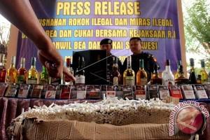 Kanwil Bea Cukai Musnahkan Minuman Keras-Rokok Ilegal