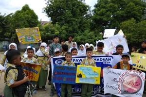 SD IT Ikhtiar Gelar Pawai Sambut Ramadhan
