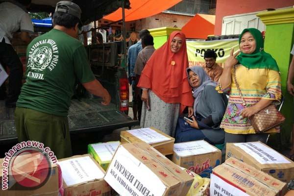 Perwakilan SDN PAM Bantu Korban Kebakaran Makassar