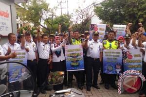 Dishub Makassar Gelar Percontohan-Penertiban Berlalu Lintas