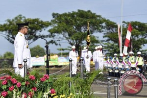 Gubernur Sulsel Pimpin Upacara HUT Bhayangkara