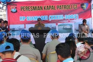 Kapolda Sulbar Resmikan Pengoperasian Kapal Patroli