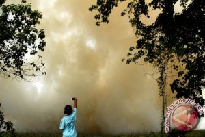 Polisi Dan Warga Berhasil Padamkan Kebakaran Lahan
