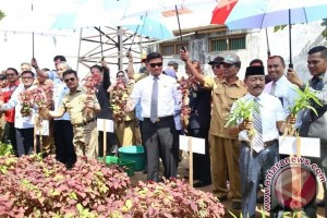 Gubernur - Bupati Panen Perdana Sayuran Lapas Bolangi