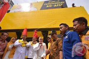 Rumah Pemenangan Pasangan Pilgub Sulsel Nurdin-Aziz Diresmikan