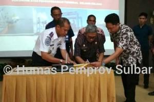 Sulbar-Pelindo Teken Mou Pengoperasian Terminal Pelabuhan Mamuju