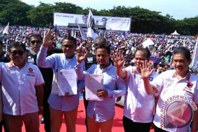 Deklarasi Pasangan NA-ASS Dihadiri Ribuan Orang