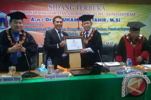 Wawali Makassar Menjadi Penguji Doktor Di Gorontalo