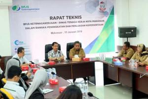 BPJS Ketenagakerjaan libatkan Disnaker Makassar tingkatkan kepesertaan