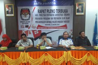 KPU Makassar nyatakan bakal paslon negatif narkoba
