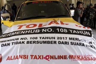 Aksi pengemudi online tolak Permenhub 108