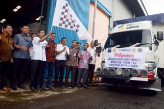100 ton beras medium dilepas Bulog Sulselbar