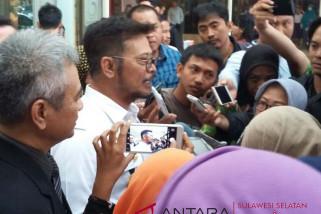 Syahrul Yasin Limpo enggan jadi jurkam NH-Azis
