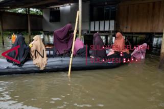 sebagian wilayah Gowa dilanda banjir