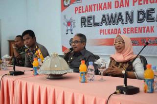 KPU Bantaeng lantik relawan pilkada dan demokrasi