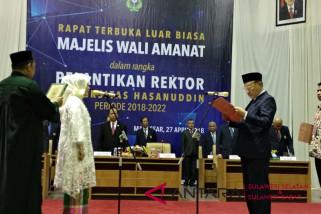 Pelantikan Rektor Unhas diwarnai berbagai rekor