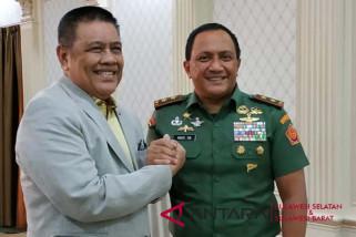 Asintel Panglima TNI temui Ketua DPRD Sulsel
