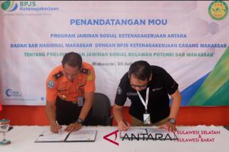 Basarnas dan BPJS Ketenakerjaan Makassar galang kerjasama