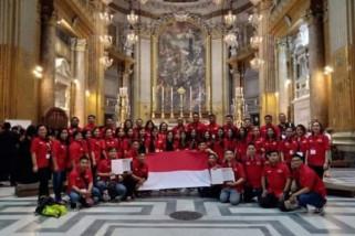 Paduan suara Indonesia juara di Italia