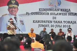 Pj Gubernur Sulsel digelari Sulo Langi di Torut